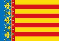 Valencia provincia bandera 200px