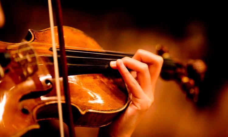 Violin plazas orquesta